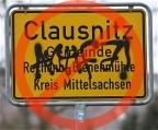 Clausnitz Ortsschild