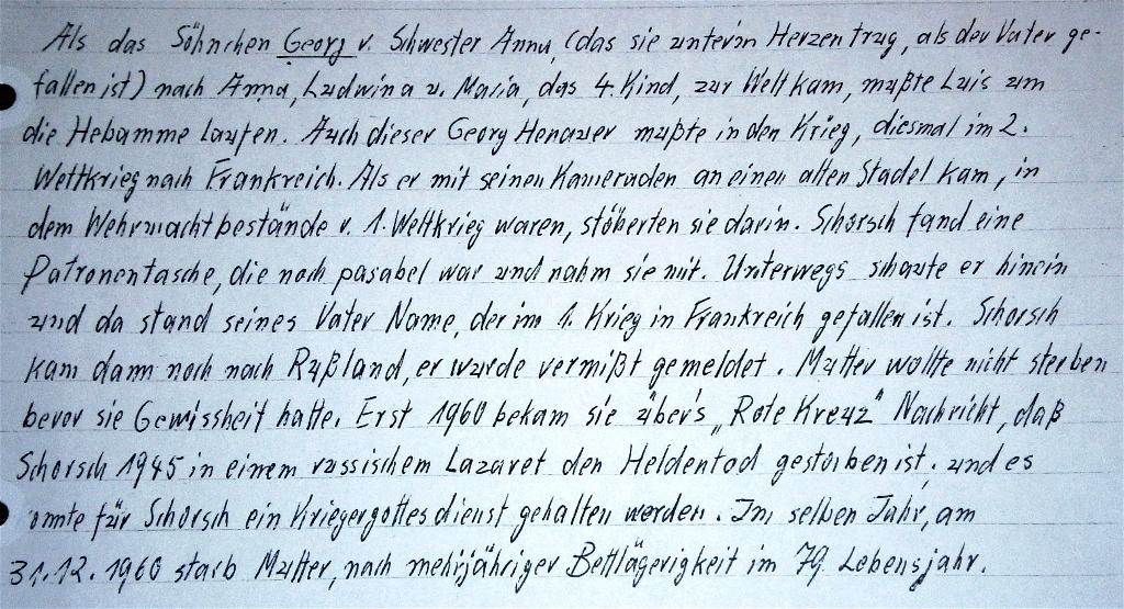 Henauer-Geschichte 1. und 2. Weltkrieg