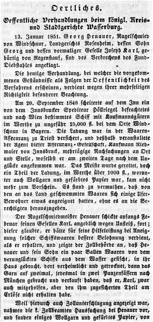Wasserburger Wochenblatt - Teil 1