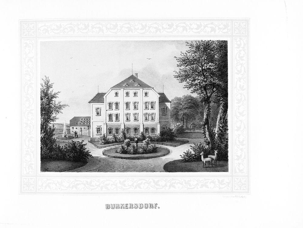Burkersdorf --- aus: Album der Rittergüter und Schlösser im Königreiche Sachsen