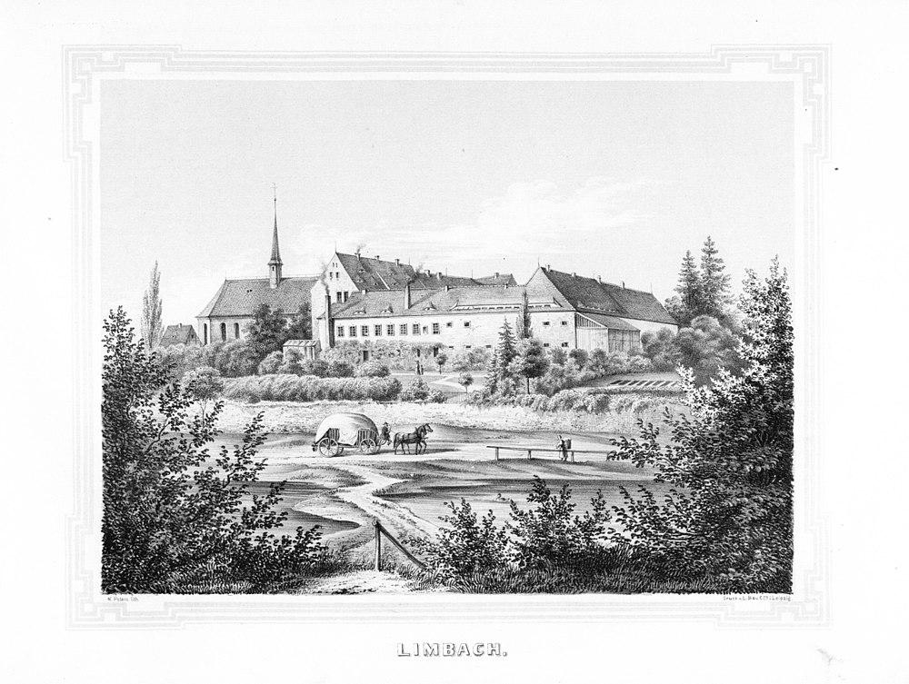 Limbach --- aus: Album der Rittergüter und Schlösser im Königreiche Sachsen